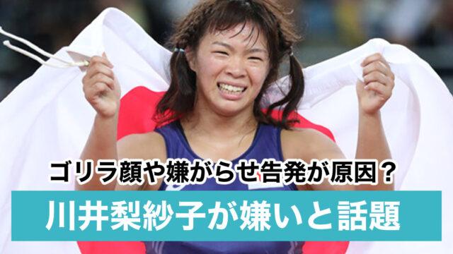 川井梨紗子が嫌いと言われる3つの理由!ゴリラ顔や嫌がらせ告発が原因?