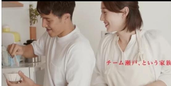 味の素のCMに夫婦で共演した瀬戸大也選手