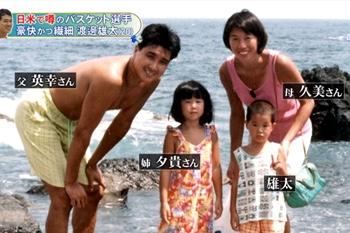 渡邊雄太 家族 父親 母親 姉