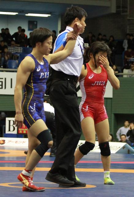 2017年世界選手権で入江ゆき選手に敗れた須崎優衣選手