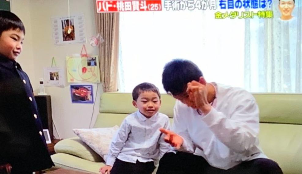 桃田賢斗 姉 甥っ子