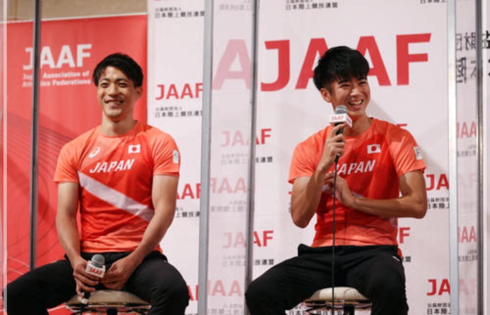 東京オリンピックの会見にて 多田修平