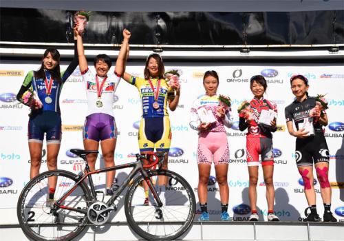 ジャパンカップ2015オープンレース女子で優勝の梶原悠未選手
