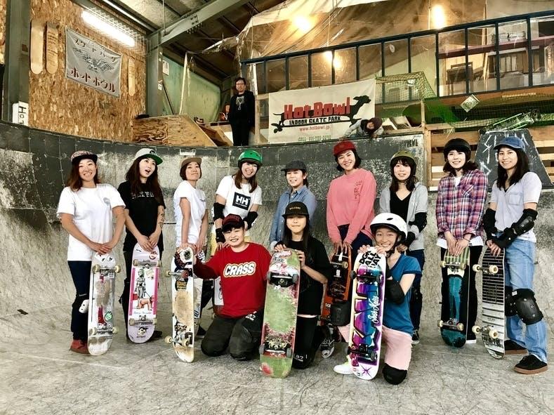 HOT BOWL skate parkのスケーター達 開心那