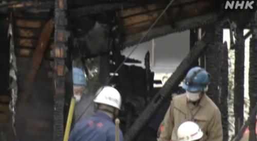 山梨県甲府市蓬沢1丁目火事で井上盛司さん夫婦と思われるご遺体が見つかる